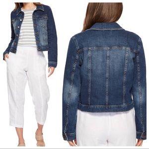 * Eileen Fisher Denim Jacket Sz XS ::LL10